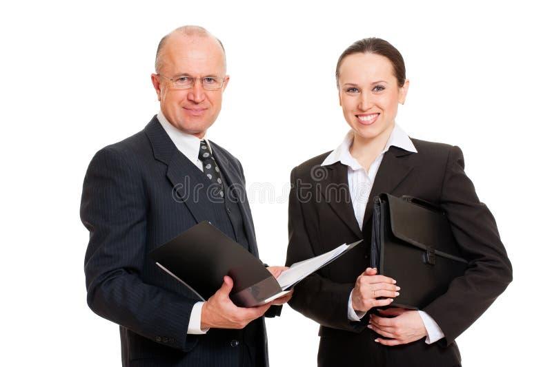Executivos do smiley imagem de stock royalty free