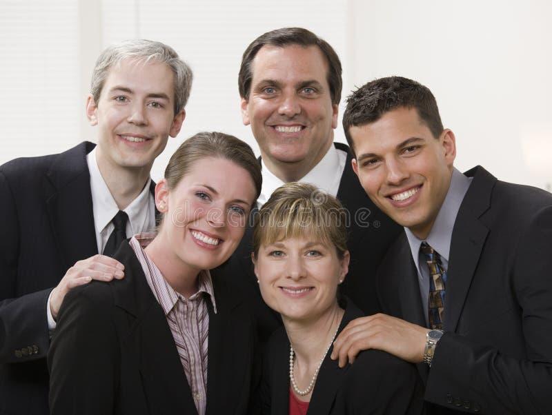 Executivos do sorriso fotografia de stock