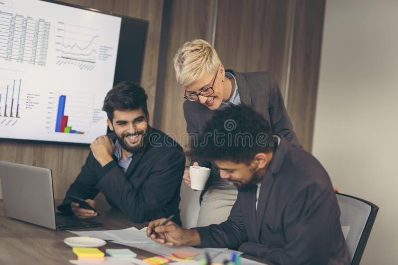 Executivos do trabalho foto de stock