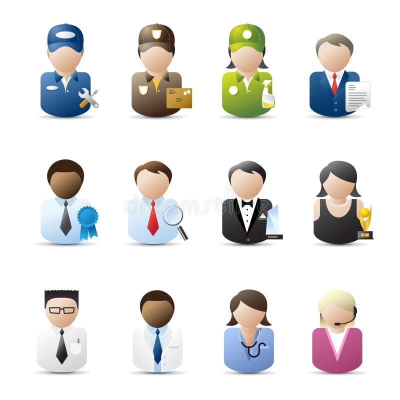 Executivos dos ícones ilustração royalty free