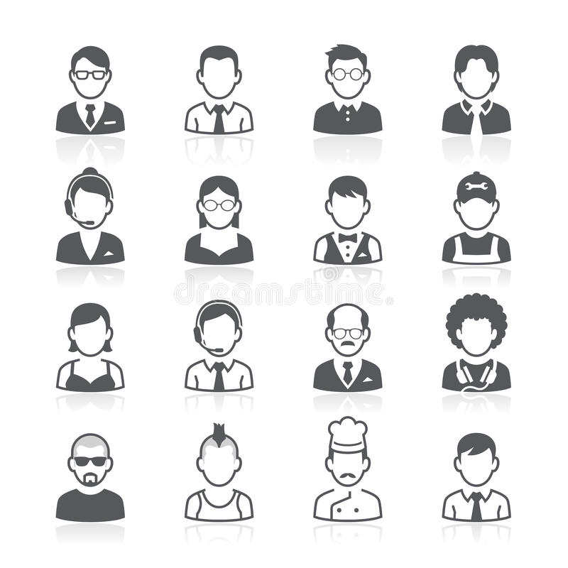 Executivos dos ícones do avatar. ilustração stock