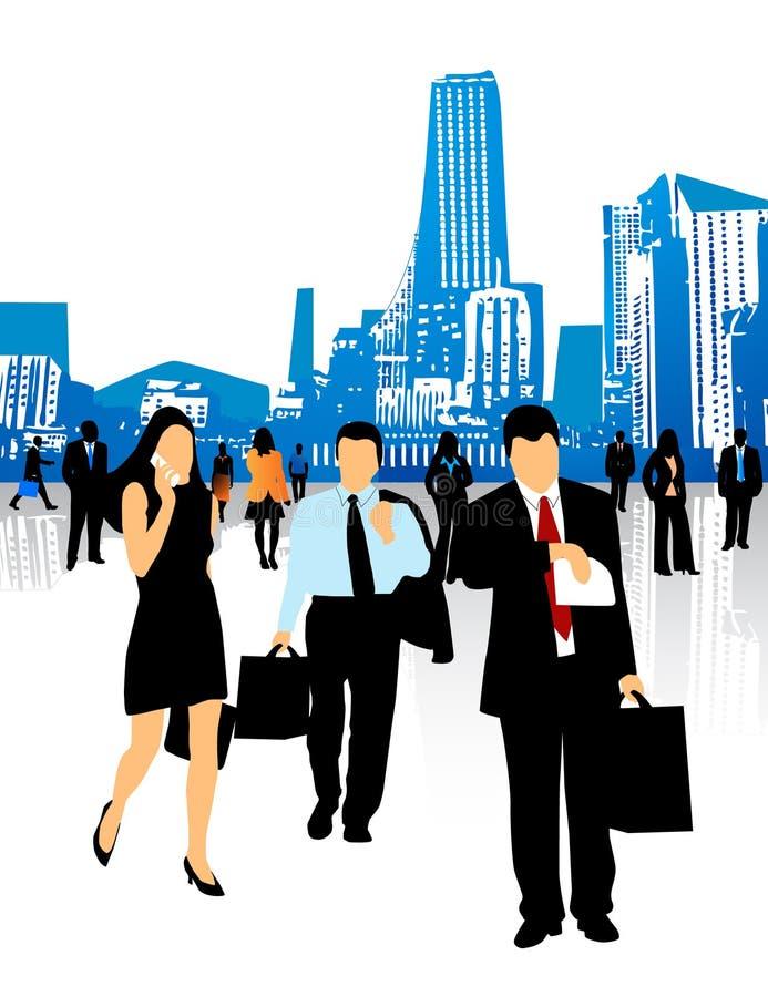 Executivos e cidade ilustração stock