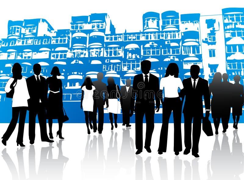 Executivos e edifícios ilustração royalty free