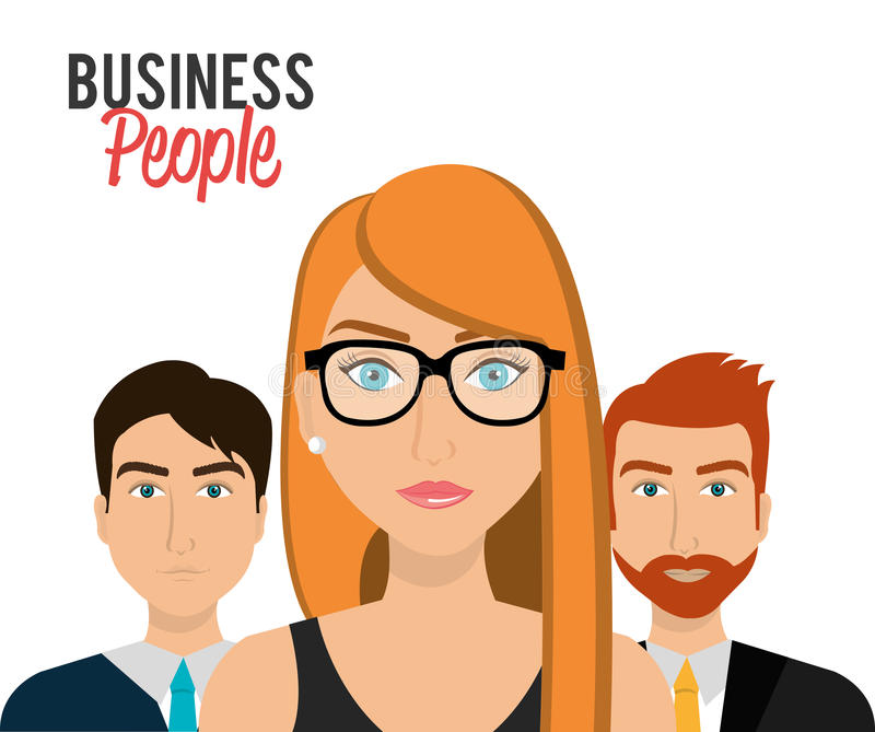 Executivos e empresário ilustração royalty free