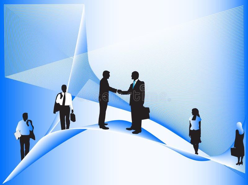 Executivos e formas abstratas ilustração stock