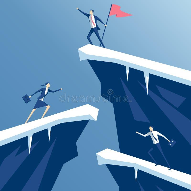 Executivos e rochas ilustração do vetor