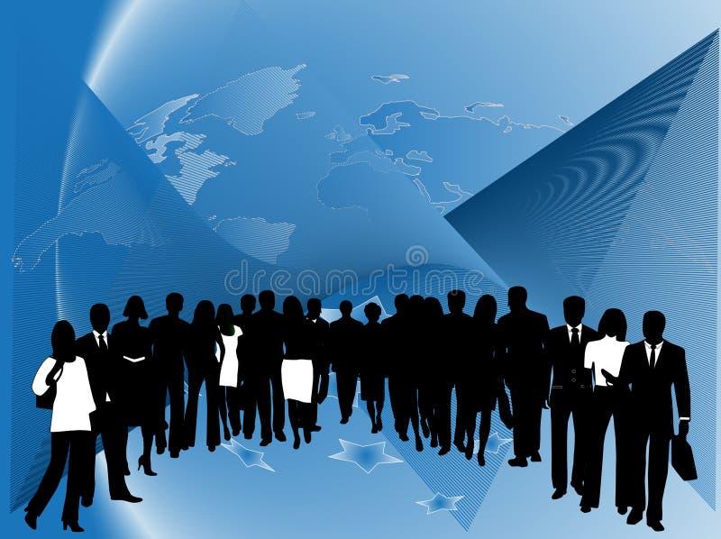 Executivos e sumário ilustração stock