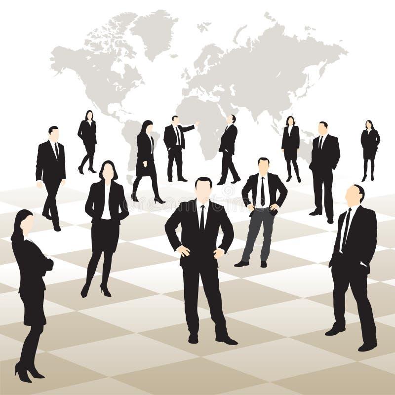 Executivos em um tabuleiro de xadrez ilustração do vetor