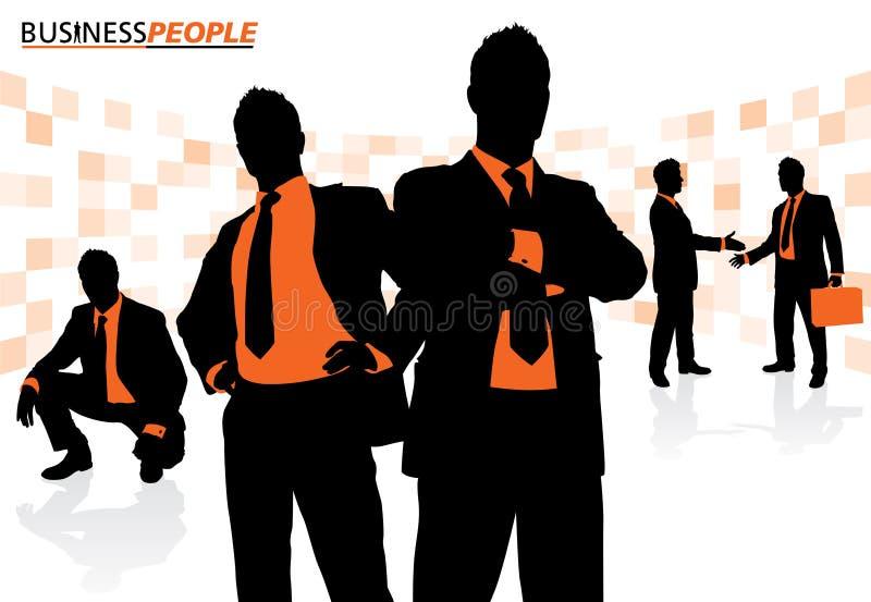 Executivos em uma pose dinâmica ilustração do vetor