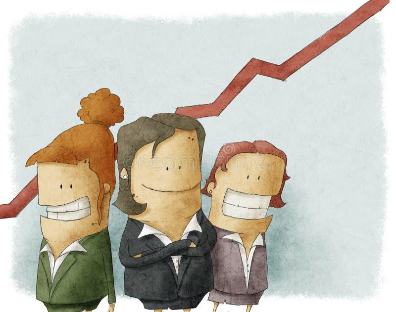 Executivos fêmeas ilustração do vetor