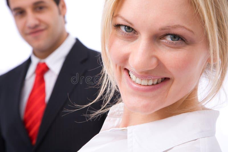 Executivos felizes fotografia de stock royalty free