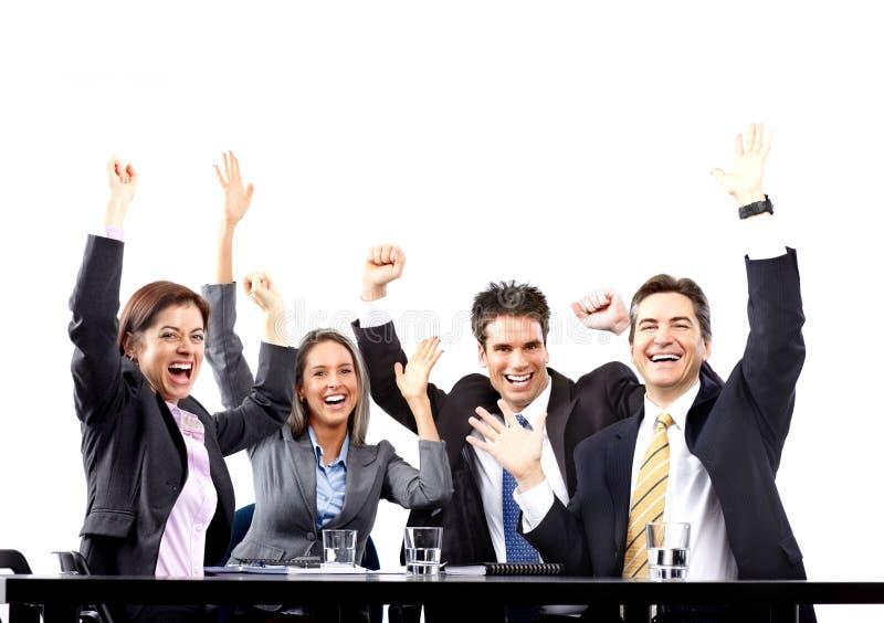 Download Executivos Felizes Da Equipe Foto de Stock - Imagem de discutir, colegas: 12811928