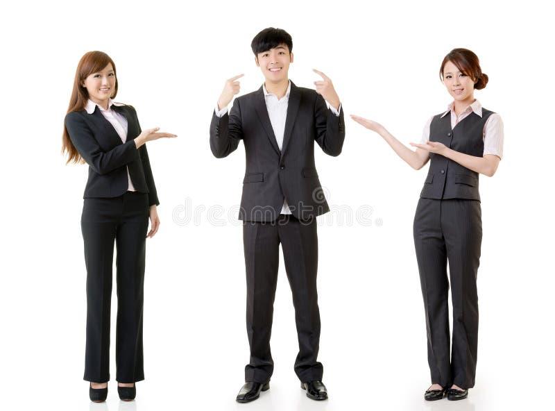 Executivos felizes do sorriso imagem de stock royalty free