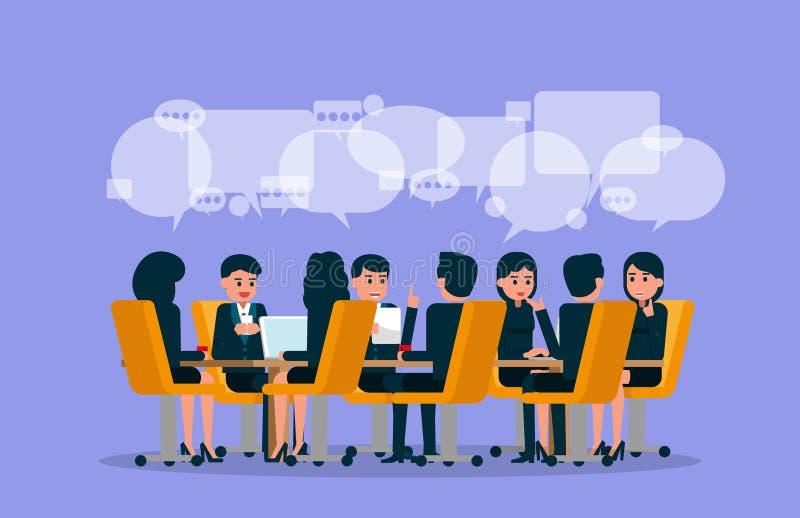 Executivos 11 Ilustração do vetor da reunião Brainstor ilustração royalty free