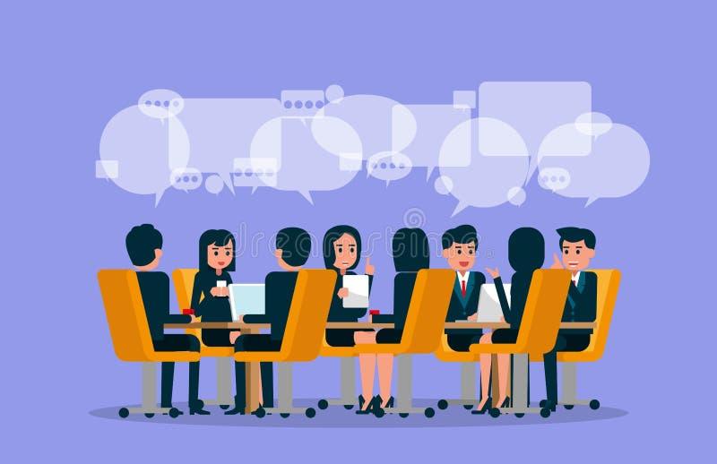 Executivos 11 Ilustração do vetor da reunião Brainstor ilustração do vetor