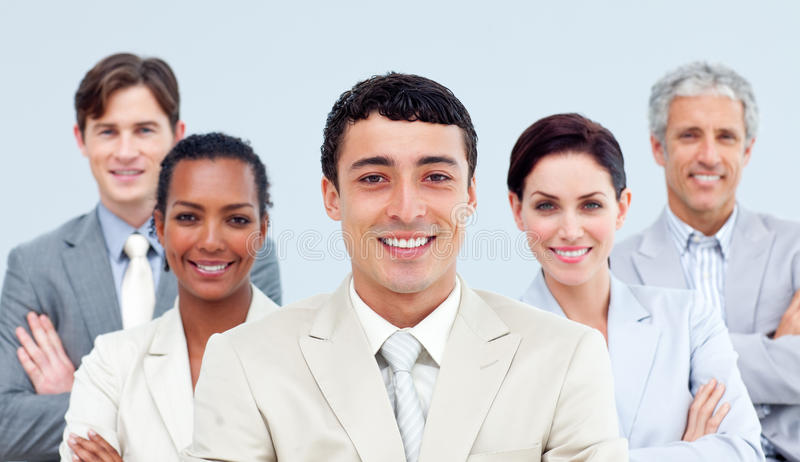Executivos Multi-ethnic estar imagem de stock