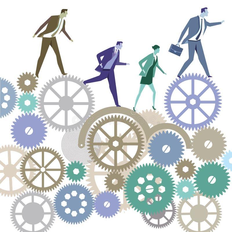 Executivos na competição ilustração stock