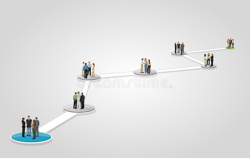 Executivos no fluxo de trabalho ilustração do vetor