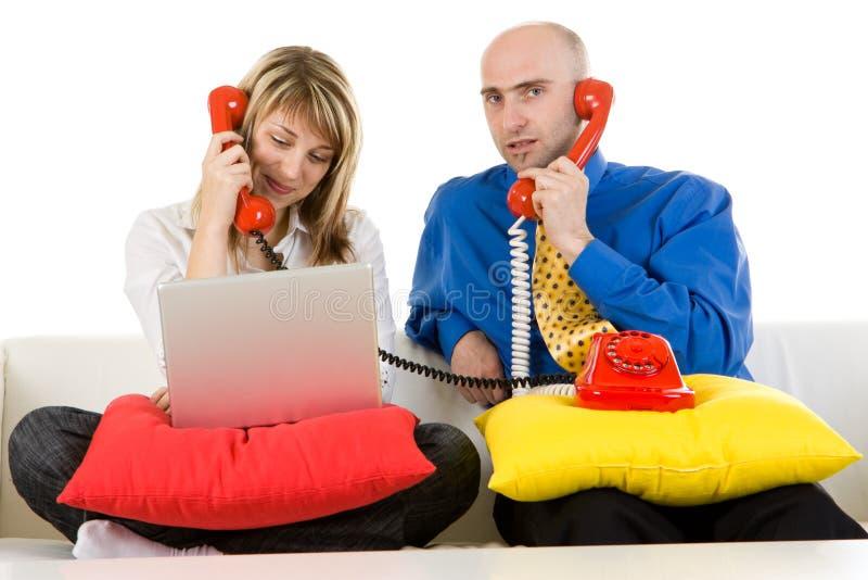 Executivos no telefone foto de stock