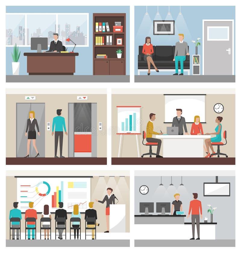 Executivos no trabalho ilustração stock