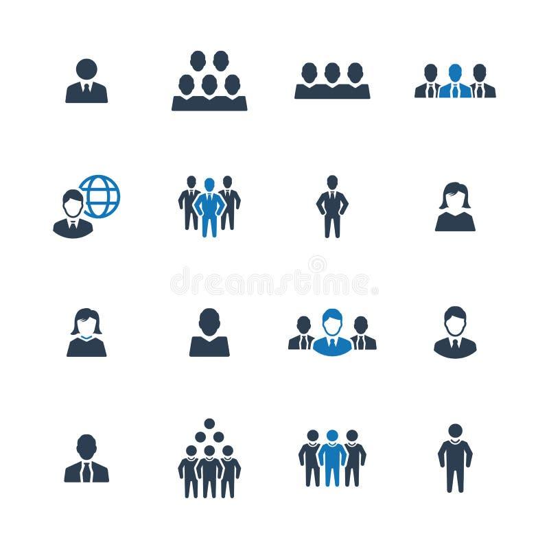 Executivos, pessoa, ícone do homem de negócios ilustração royalty free