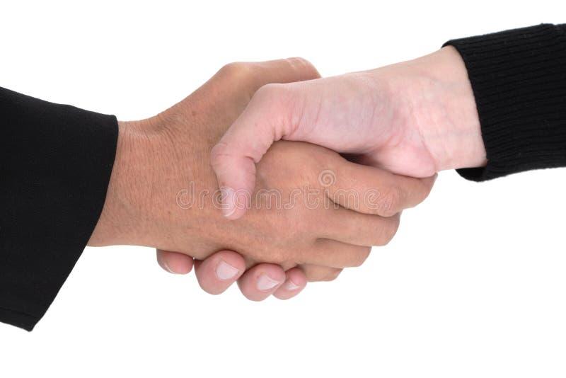 Executivos que agitam as mãos foto de stock