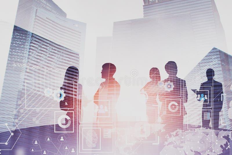 Executivos que conceituam, relação digital imagens de stock royalty free