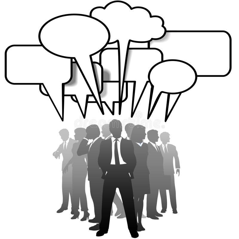 Executivos que falam em bolhas do discurso ilustração do vetor