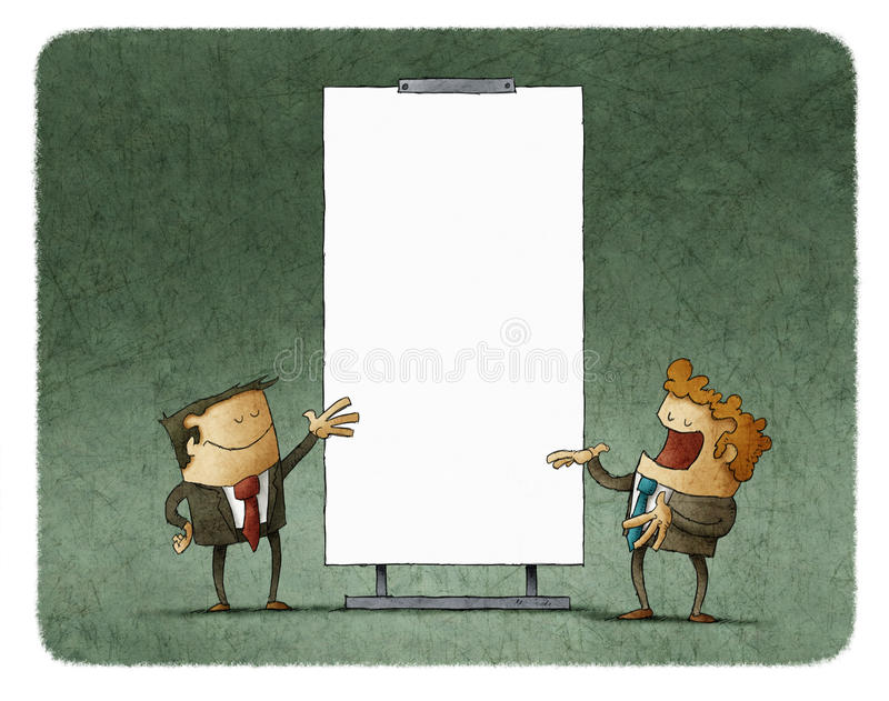 Executivos que falam sobre a agenda ilustração do vetor