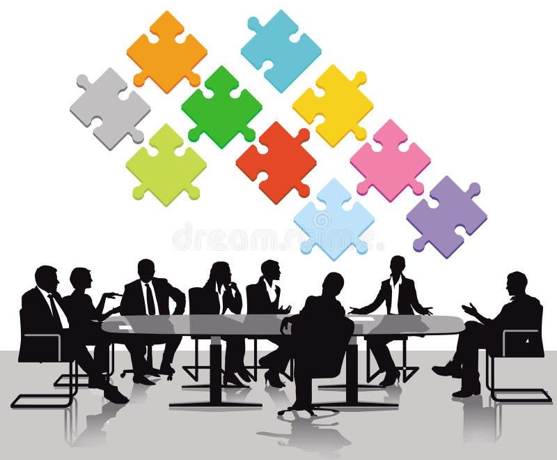 Executivos que têm a reunião ilustração stock