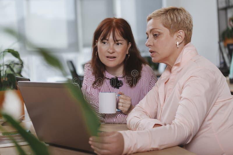 Executivos que trabalham junto no escrit?rio imagens de stock royalty free