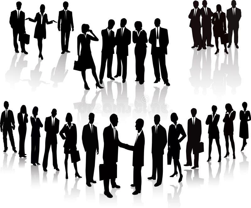 Executivos - silhueta do vetor