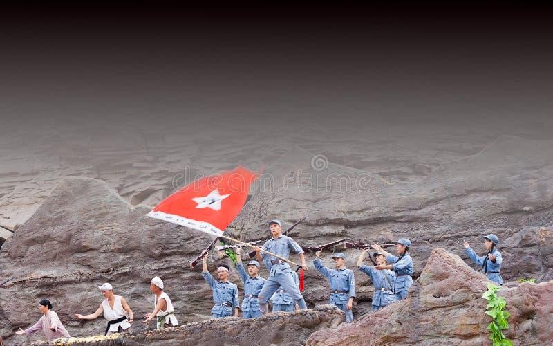 Executor da cachoeira do hukou em China fotografia de stock