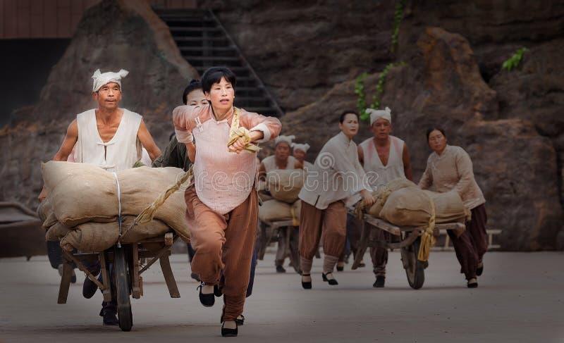 Executor da cachoeira do hukou em China foto de stock royalty free