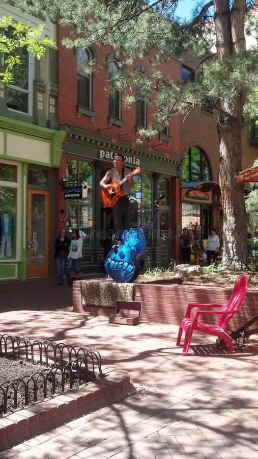 Executor da rua em Boulder CO fotos de stock royalty free