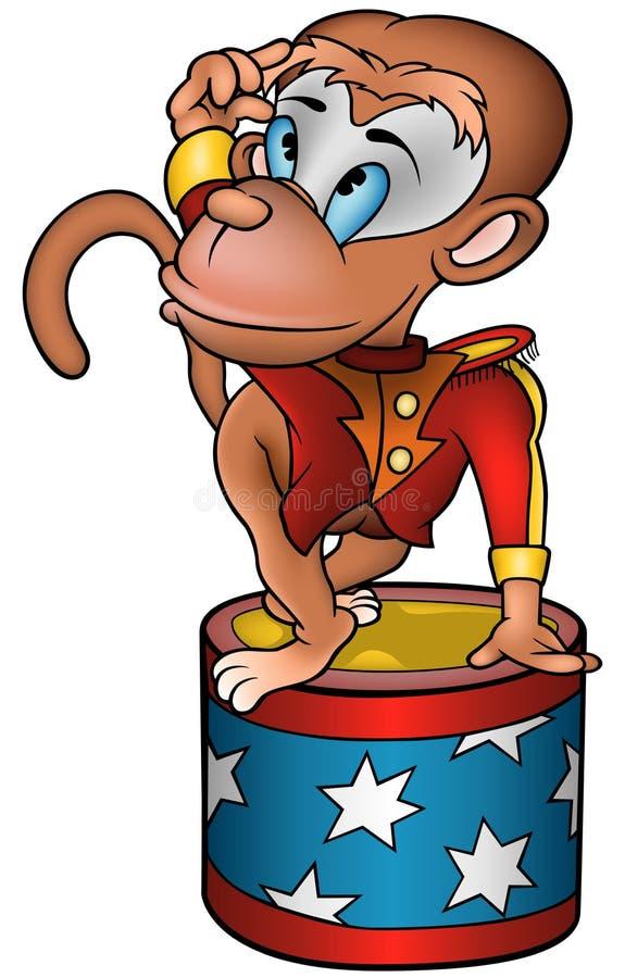 Executor de circo do macaco ilustração royalty free