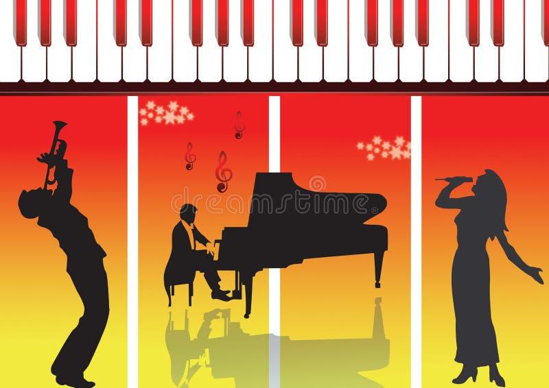 Executor do piano ilustração stock
