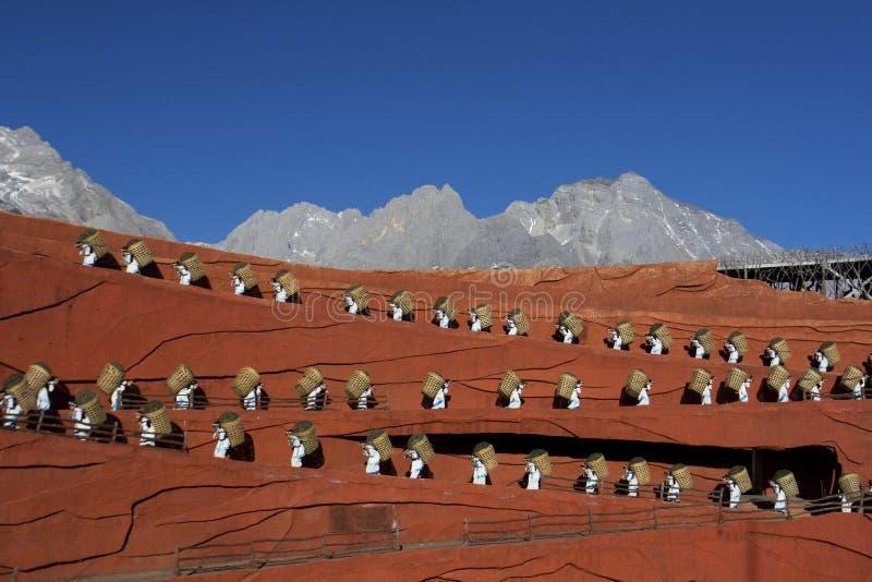 Executores na impressão Lijiang fotos de stock
