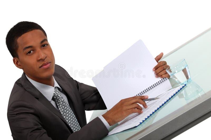 Exekutivberatungsbericht lizenzfreie stockbilder