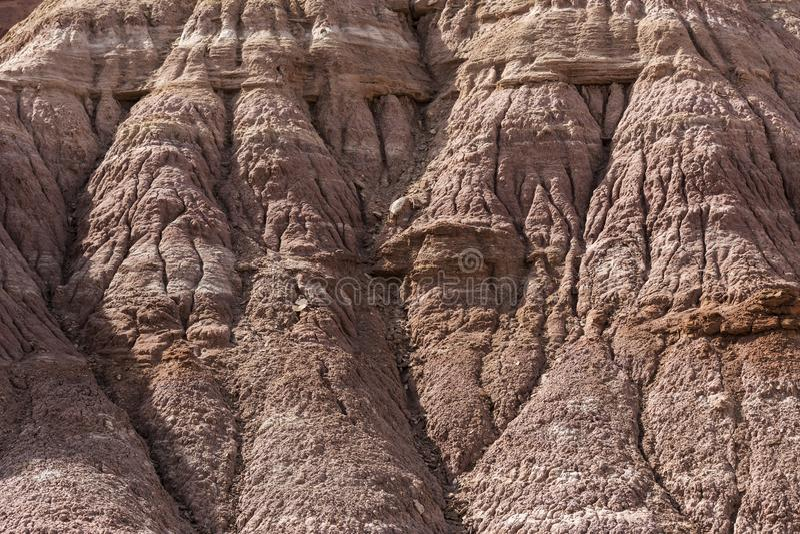 Exempel av erosion som rider ut nära Escalante Utah USA royaltyfria bilder