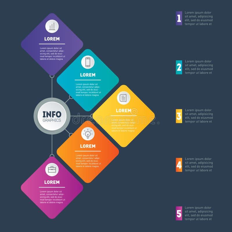 Exempel av infographicsen, hur man gör din strukturerade affär royaltyfri illustrationer