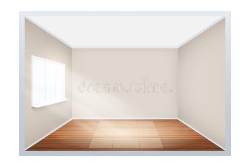 Exempel av tomt rum med fönstret på sida vektor illustrationer