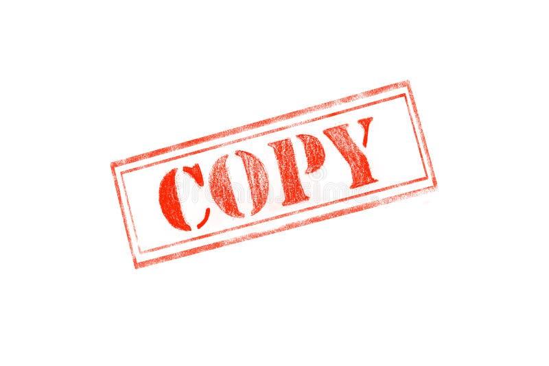 ` EXEMPLAAR` rubberzegel over een witte achtergrond stock afbeeldingen