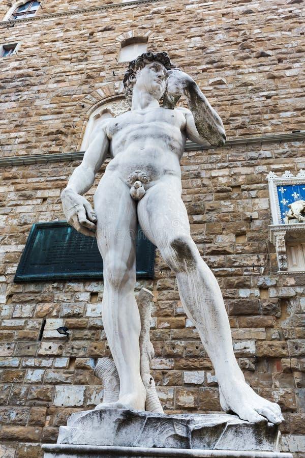 Exemplaar van Michelangelos David in Florence, Italië royalty-vrije stock fotografie