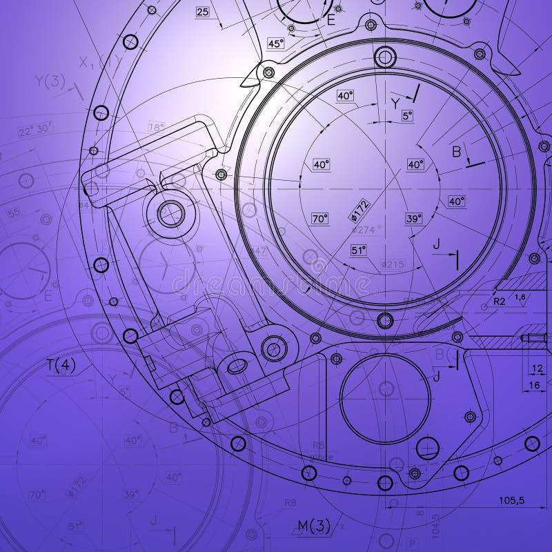 Exemple de modèle de document d'industrie illustration stock