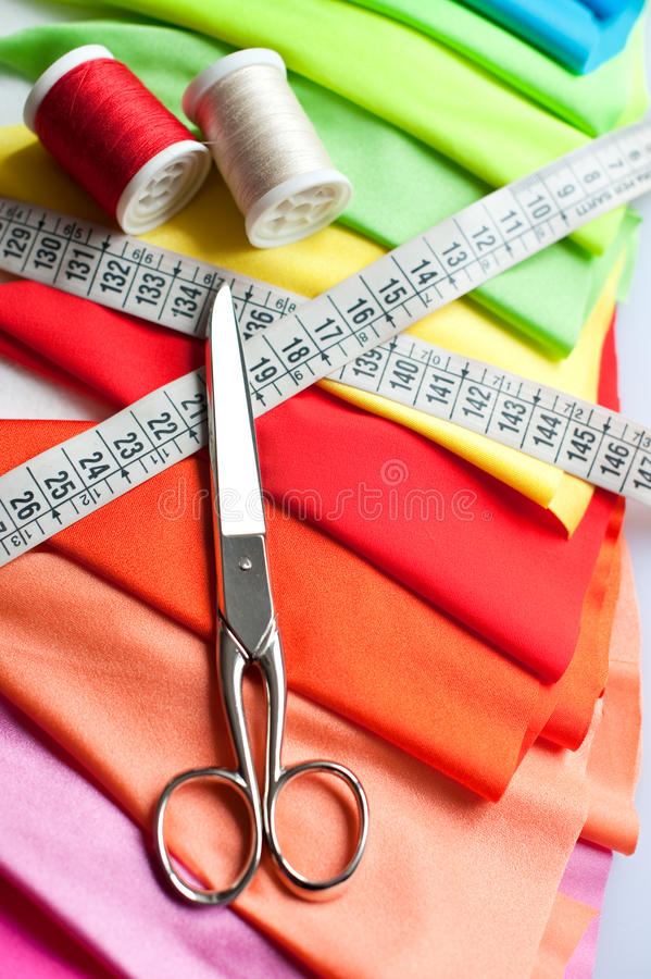 Exemple de tissu coloré images stock