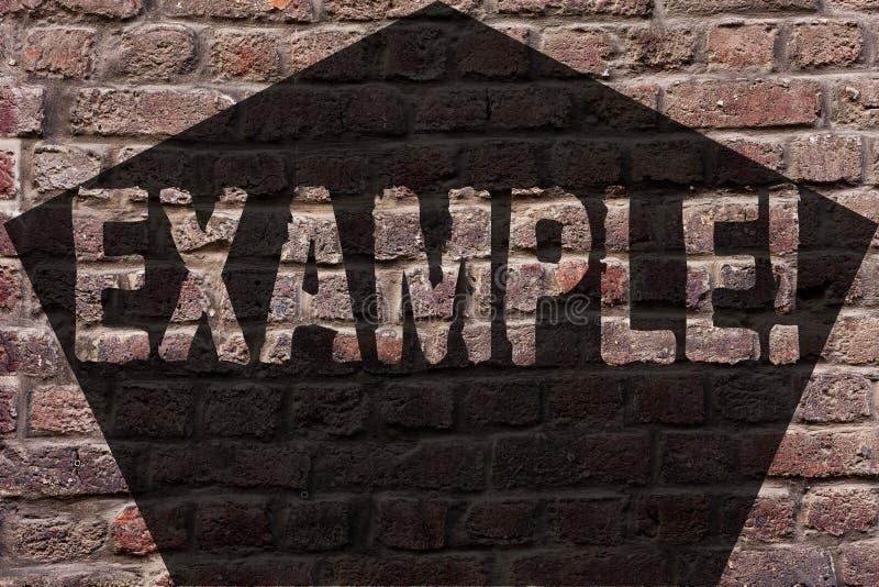 Exemple des textes d'écriture Modèle témoin d'illustration de signification de concept pour suivre le mur de briques d'explicatio image libre de droits