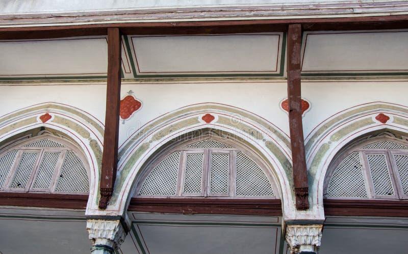 Exemple fin d'architecture de turc de tabouret images stock