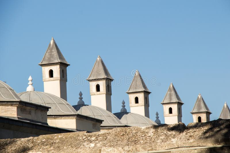 Exemple fin d'architecture turque de tour de tabouret photo libre de droits