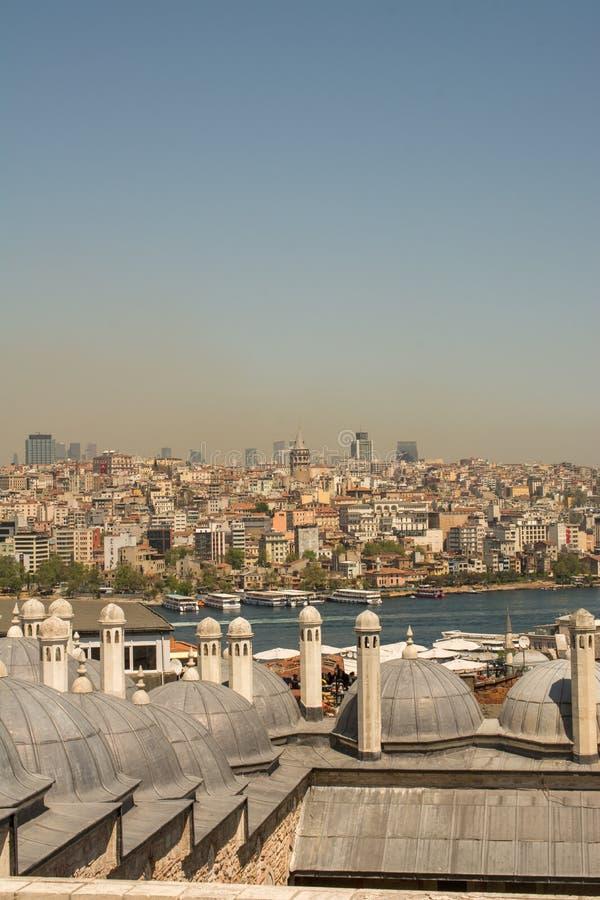 Exemple fin d'architecture turque de tour de tabouret image stock